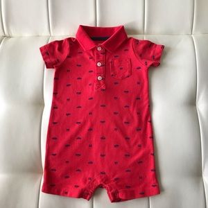 Carter's Baby Boy One-Piece Rompers Red Sz 12 mon